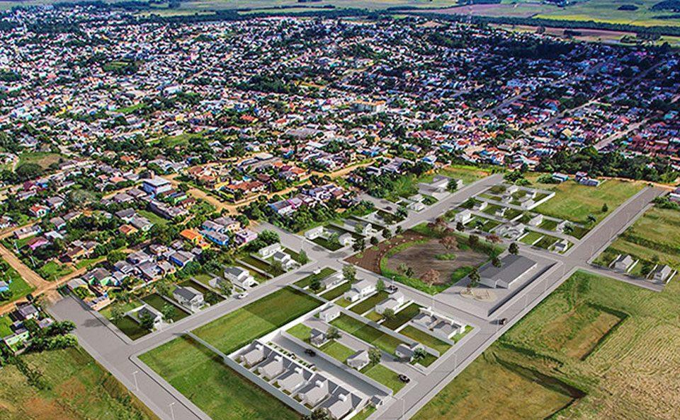 vista aérea da cidade de camaquã onde fica a amplisound centro auditivo