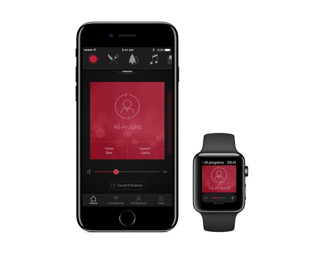 app resound amplisound linx3d para integração de aparelho auditivo